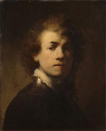 Self Portrait as a Courtly Squire | Rembrandt | Gemälde Reproduktion