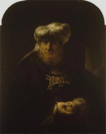 A Man in Oriental Costume, Undated by Rembrandt | Painting Reproduction