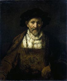 An Old Man in Fanciful Costume, Undated by Rembrandt | Painting Reproduction