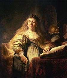 Saskia as Minerva, Undated by Rembrandt | Painting Reproduction