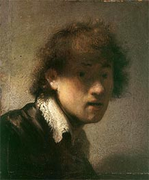 Self-Portrait, 1629 by Rembrandt | Painting Reproduction