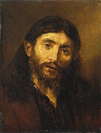 Bust of Christ, c.1648/52 by Rembrandt | Painting Reproduction