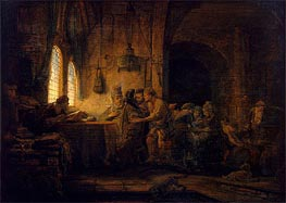 Parable of the Labourers in the Vineyard | Rembrandt | Gemälde Reproduktion