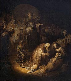 Adoration of the Magi, 1632 von Rembrandt | Gemälde-Reproduktion
