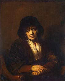 Portrait of an Old Woman, 1654 von Rembrandt | Gemälde-Reproduktion