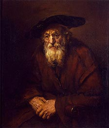 Portrait of an Old Jew | Rembrandt | Painting Reproduction