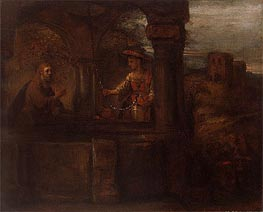 Christ and the Woman of Samaria | Rembrandt | Painting Reproduction