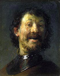 Smiling Man | Rembrandt | Painting Reproduction