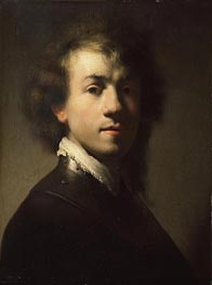 Portrait of Rembrandt at around Age of 23, c.1629 von Rembrandt | Gemälde-Reproduktion