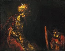 Saul and David, c.1650/55  von Rembrandt | Gemälde-Reproduktion