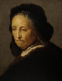 Study of an Old Woman (Rembrandt's Mother), c.1630/35 by Rembrandt | Painting Reproduction
