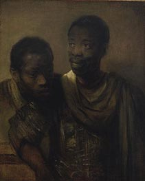 Two Negroes, 1661 by Rembrandt | Painting Reproduction