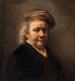 Self Portrait, 1669 by Rembrandt | Painting Reproduction