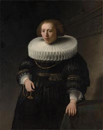 Portrait of a Woman, probably a Member of the Van Beresteyn Family, 1632 von Rembrandt | Gemälde-Reproduktion