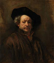 Self Portrait, 1660 by Rembrandt | Painting Reproduction