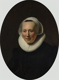 Portrait of a Woman, 1633 by Rembrandt | Painting Reproduction
