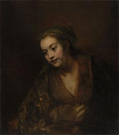 Hendrickje Stoffels, c.1650/60 by Rembrandt | Painting Reproduction