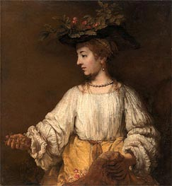 Flora, c.1654 by Rembrandt | Painting Reproduction