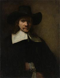 Portrait of a Man, c.1655/60 by Rembrandt | Painting Reproduction