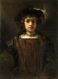 Rembrandt's Son Titus, Undated by Rembrandt | Painting Reproduction