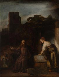 Christ and the Woman of Samaria, 1655 by Rembrandt | Painting Reproduction
