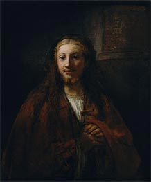 Christ with a Staff, 1661 von Rembrandt | Gemälde-Reproduktion