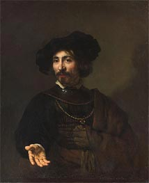 Man with a Steel Gorget, 1644 von Rembrandt | Gemälde-Reproduktion