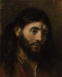 Head of Christ, Undated by Rembrandt | Painting Reproduction