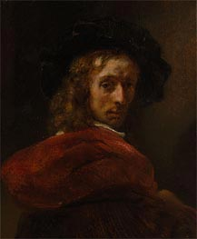 Man in a Red Cloak, Undated von Rembrandt | Gemälde-Reproduktion