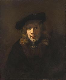 Man in a Beret, Undated by Rembrandt | Painting Reproduction