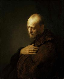 Old Man in Prayer | Rembrandt | Painting Reproduction