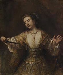 Lucretia, 1664 by Rembrandt | Painting Reproduction