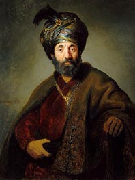 Man in Oriental Costume, c.1635 by Rembrandt | Painting Reproduction