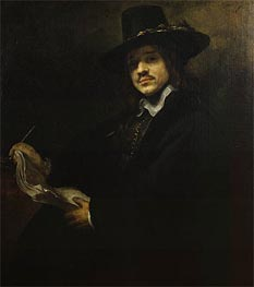 Portrait of a Young Artist | Rembrandt | Painting Reproduction