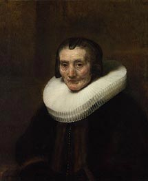 Portrait of Margaretha de Geer, Wife of Jacob Trip | Rembrandt | Gemälde Reproduktion