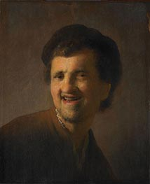 Laughing Young Man (Self Portrait) | Rembrandt | Painting Reproduction