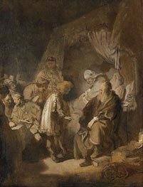 Joseph Tells his Dreams to Jacob, 1633 by Rembrandt | Painting Reproduction