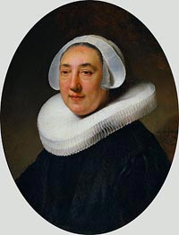 Portrait of Haesje Jacobsdr of Cleyburg | Rembrandt | Gemälde Reproduktion