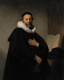 Portrait of John Wtenbogaert | Rembrandt | Painting Reproduction