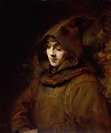 Titus van Rijn in a Monk's Habit | Rembrandt | Painting Reproduction
