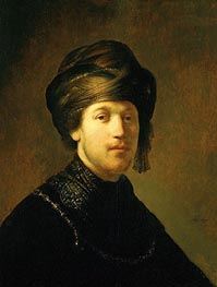 A Young Man Wearing a Turban | Rembrandt | Gemälde Reproduktion