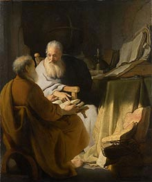 Two Old Men Disputing | Rembrandt | Gemälde Reproduktion