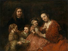 Family Portrait, c.1663/68 by Rembrandt | Painting Reproduction