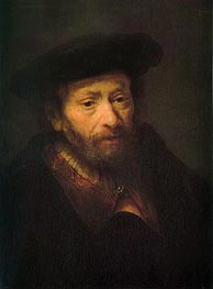 Portrait of Old Man, c.1643 by Rembrandt | Painting Reproduction