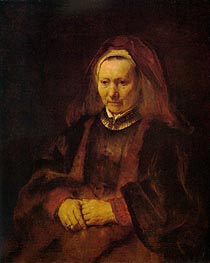 Portrait of an Elderly Woman | Rembrandt | Painting Reproduction