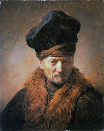 Old Man in Fur Coat | Rembrandt | Painting Reproduction