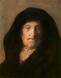 Portrait of Mother of Rembrandt | Rembrandt | Painting Reproduction