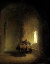 Philosopher Reading, 1631 by Rembrandt | Painting Reproduction