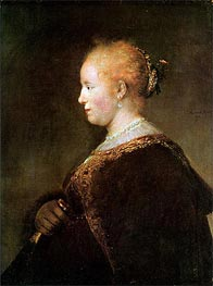 Portrait of a Young Woman | Rembrandt | Gemälde Reproduktion