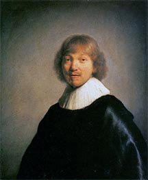 Portrait of the Painter Jacques de Gheyn III, 1632 von Rembrandt | Gemälde-Reproduktion
